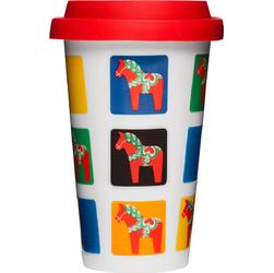 Porcelanowy kubek termiczny - konie Dala Cafe Sweden 0,25 Litra SF-5016401