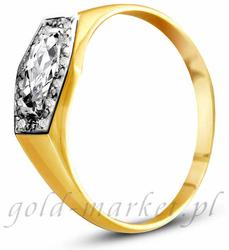 Pierścionek z żółtego złota AGP14G