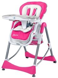 Caretero Bistro Różowe Krzesełko do karmienia + PUZZLE