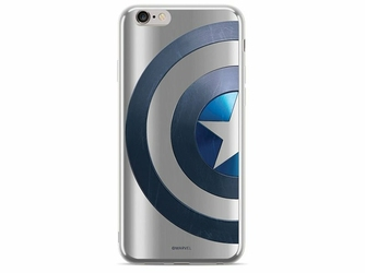 Etui z nadrukiem Luxury Marvel Kapitan Ameryka 006 Apple iPhone 78
