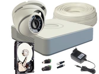ZESTAW HD-TVI 1 x KAMERA FULLHD, REJESTRATOR 4CH + 500GB - Szybka dostawa lub możliwość odbioru w 39 miastach