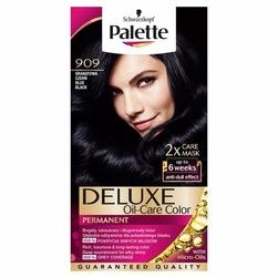 Palette, Deluxe, farba do włosów, 909 Granatowa Czerń