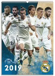 Real Madrid - kalendarz A3 na 2019 rok