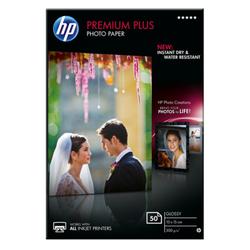Papier fotograficzny HP Premium Plus, błyszczący – 50 arkuszy10 x 15 cm