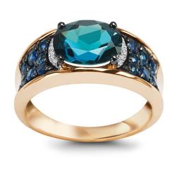 pierścionek złoto 58514k i topaz