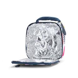 Kwadratowy lunchbox biało - granatowa w gruszki Penny Scallan