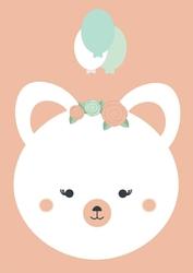 Misia urodzinowa z balonami - plakat Wymiar do wyboru: 59,4x84,1 cm