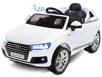 Audi Q7 Biały Samochód dla dziecka na akumulator + PILOT