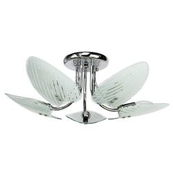 Elegancka lampa sufitowa z zdobionym szkłem DeMarkt 336012705