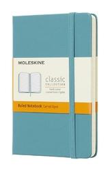 Notes Moleskine kieszonkowy w linie reef blue
