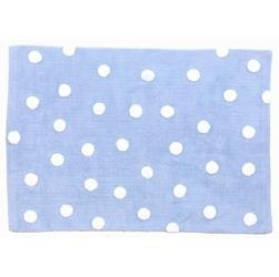 Dywan do prania w pralce Niebieski w białe kropki