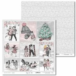 Papier świąteczny Shabby Winter 30,5x30,5 cm - 06 - 06