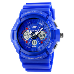 Zegarek SPORTOWY SKMEI 0966 DATOWNIK LED blue - BLUE
