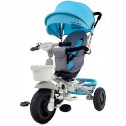 Junioria Bonbon Niebieski Rowerek Trójkołowy 4w1 Obracany + Prezent 3D