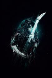 Janson Becker Gitarzysta - plakat premium Wymiar do wyboru: 50x70 cm