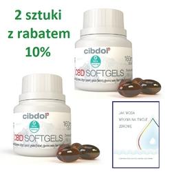 Kapsułki 4 z olejkiem konopnym CBD 384mg 120 sztuk CIBDOL  RABAT szczegóły w opisie + GRATIS