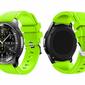 Gumowy pasek sportowy do Samsung Gear S3  watch 46mm karbon +Szkło - Zielony