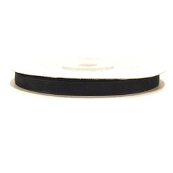 Wstążka szyfonowa 6mm32m - czarny - CZA