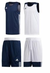 Zestaw dwustronny koszykarski adidas 3G Speed - MarineblueWhite