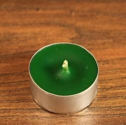 Tealight - zielona świeca z wosku herbaciarka 6 sztuk