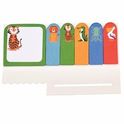 Kolorowe samoprzylepne karteczki zwierzaki Rex London