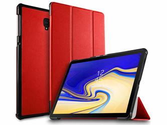 Etui Alogy Book Cover Galaxy Tab S4 10.5 T830T835 Czerwone + Szkło - Czerwony