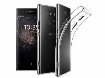 Etui silikonowe do Sony Xperia XA2 przezroczyste +Szkło Mocolo TG+3D