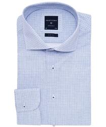 Elegancka błękitna koszula Profuomo SLIM FIT w mikrowzór 40
