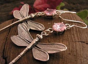 ALE WAŻKI - kolczyki z różowym kryształem