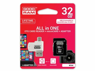 GoodRam microSDHC 32GB Class 10 karta + adapter + czytnik