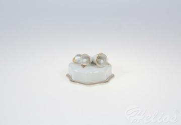 Bomboniera porcelanowa 8-kątna z dzwoneczkiem 0060