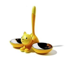 Miseczki dla kota Tigrito żółte