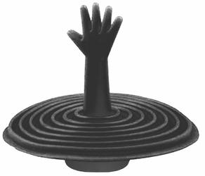 Korek Silikonowy do Wanny Umywalki Zlewu Uniwersalny - Czarny