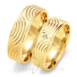 Obrączki ślubne Złoty Skorpion – wzór Au-O112