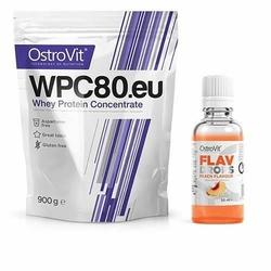 OSTROVIT WPC 80.eu Standard - 900g + Flavour Drops - 50ml - Natural  Peach