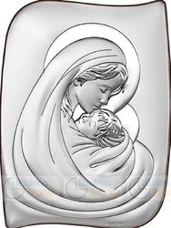 Obrazek BC64672 Matka Boska z Dzieciątkiem 7,5 x 10 cm.