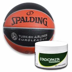 Stadiopasta - maść lecznicza na kontuzje 250 ml + Piłka Spalding TF-500 Legacy Euroleague inout