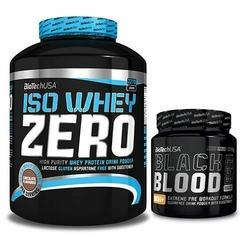 BioTech USA Iso Whey Zero 2270 + Black Blood NOX+ 330 - Vanilla  Blood Orange