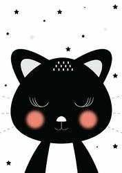 Kotek czarny - plakat Wymiar do wyboru: 20x30 cm