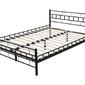 Łóżko metalowe Jelena 140x200 czarne