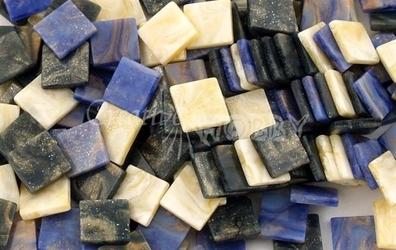 Mozaika marmur niebieska 10x10 mm - 190 sztuk - NIEMAR