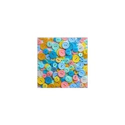 Kolorowe guziki 3 wielkości200szt. - pastelowy - PSW