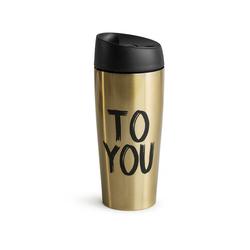 Kubek podróżny, stalowy złoty Cafe Sagaform