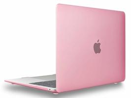 Etui Alogy Hard Case mat do Apple MacBook Air 2018 13 różowe - Różowy
