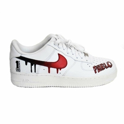 Buty damskie Nike Air Force 1 WMNS Low All White Custom Pablo Numero Uno
