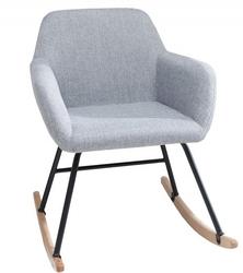 Fotel bujany Michelle nowoczesny jasnoszary