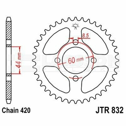 Zębatka tylna stalowa JT 832-41, 41Z, rozmiar 420 2300159 Yamaha FS1 50