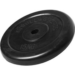 15 kg Obciążenie żeliwne gumowane talerz 30 mm Gorilla Sports