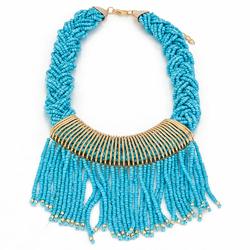 Naszyjnik aztec festival blue - BLUE
