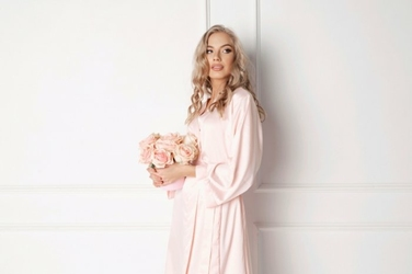 Aruelle Classy Pink szlafrok damski